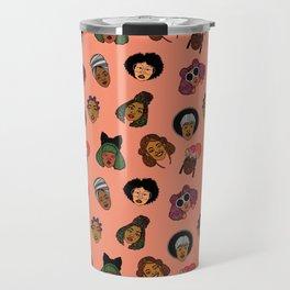 Black Hair Magic (Coral) Travel Mug