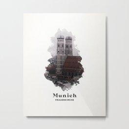 Munich Frauenkirche Church Metal Print