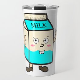 Fan of milk? Grab this hilarious tee design that will absolutely make your day! Makes a nice gift! Travel Mug