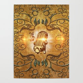 Music, microphone Poster