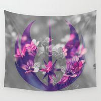jedi Wall Tapestries featuring Floral Jedi Order by foreverwars
