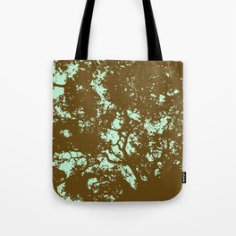Mint and Brown Forest Tote Bag