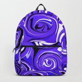 Bright Blue Violet Swirls Backpack