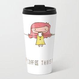 I love coffee girl Travel Mug