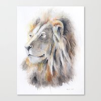 the lion king Canvas Prints featuring Lion King by pablolabel