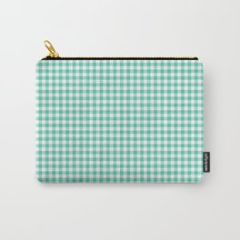 Biscay Green Gingham Check Carry-All Pouch
