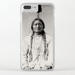 Sitting Bull - © Doc Braham; All Rights Reserved Clear iPhone Case