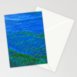 Waves Blue-Green DPG160608h Stationery Cards