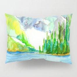 Lake Louise Watercolor Pillow Sham