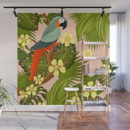 FLORAL AND BIRDS XIV Wall Mural