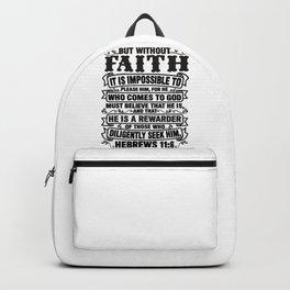 Hebrews 11:6 Backpack