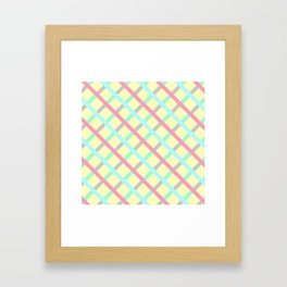 Abstract Geometic Pattern Square Grid Stripes multicolor Framed Art Print