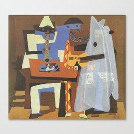 """Three Musicians (Ghost"" / Pablo Picasso Canvas Print"