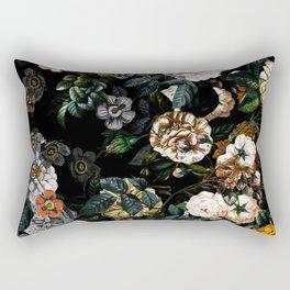 Floral Night Garden Rectangular Pillow