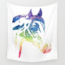 Rainbow Horse Wall Tapestry