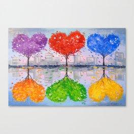 Mutual love Canvas Print
