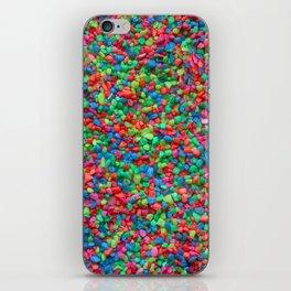 Rainbow gravel iPhone Skin