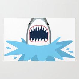 Cartoon Shark Splash Rug