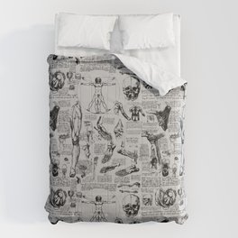 Da Vinci's Anatomy Sketchbook // Silver Comforters