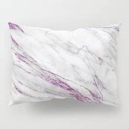 Gray and Ultra Violet Marble Agate Pillow Sham
