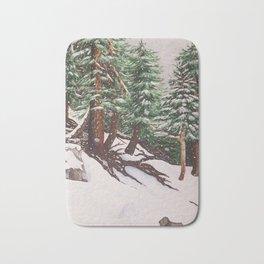 Snowing at Mount Baldy Bath Mat