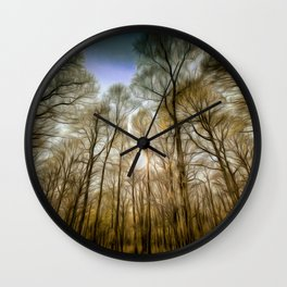 The Forest Sunset Art Wall Clock