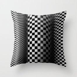 Checkered tubes Throw Pillow
