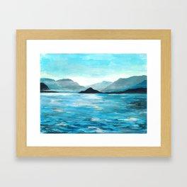Lake Como, Seascape Original Painting Framed Art Print
