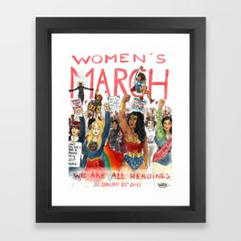 Women's March 2017 Framed Art Print