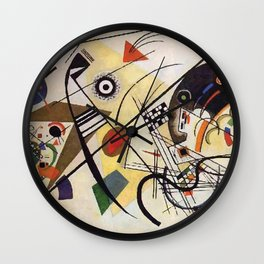 Transverse Line, Abstract, Wassily Kandinsky, 1923 Wall Clock