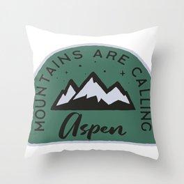 Aspen Mountains are Calling Throw Pillow