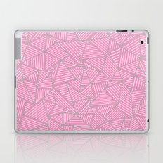 Ab Out Double Pink and Grey Laptop & iPad Skin