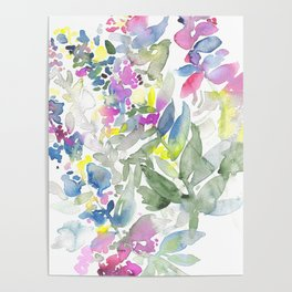 Colourful Leafs Poster