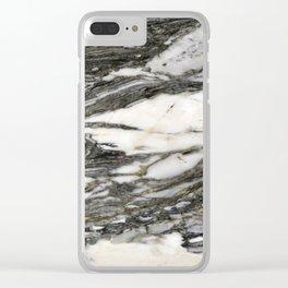 Carrara Marble Clear iPhone Case