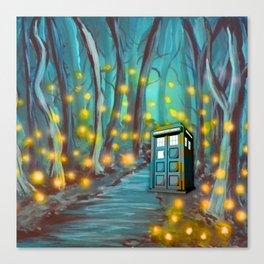 Tardis in the Glow Canvas Print