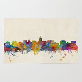 Madison Wisconsin Skyline Cityscape Rug