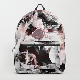 flowers - roses and black marble Backpack