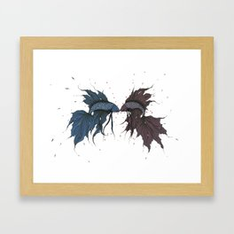 Fighting Fish Framed Art Print