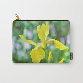 Yellow Iris Flower by Reay of Light Carry-All Pouch