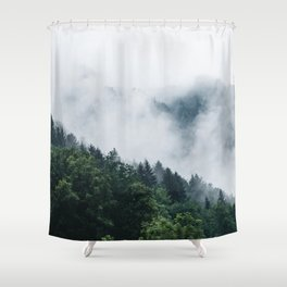 Moody Forest Shower Curtain
