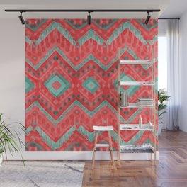 itzel - watermelon + teal Wall Mural