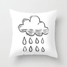 Rain cloud Throw Pillow