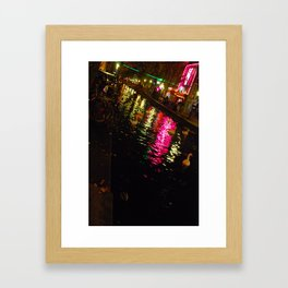 Red Light District Framed Art Print