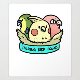 Parrot Toucan Bird Gift Cockatoo Parakeet Animal Art Print