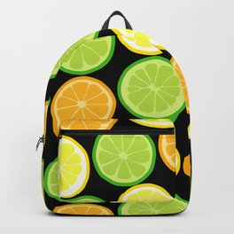 Citrus Slices on Black Backpack
