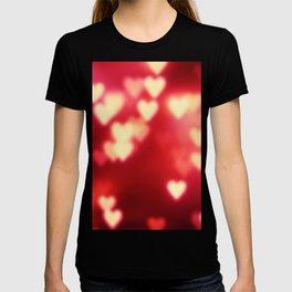 Red Hearts Valentine's Background T-shirt