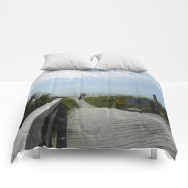 Path To The Beach Comforters