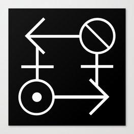"""""""Gender Ouroboros"""" TRON MAXIMUM Insignia (Light) Canvas Print"""