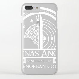 Minas Anor University - White Clear iPhone Case