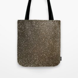 Bronze Gold Burnished Glitter Tote Bag